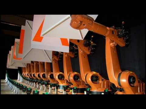 Synchronized dancing industrial robots