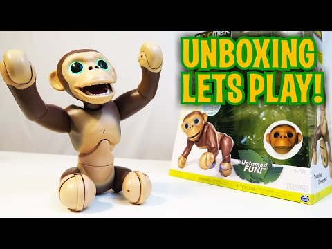 Unboxing & Let's Play – ZOOMER CHIMP – Robot Monkey – Fun Toy like Cozmo!